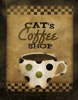 Cats Coffee Shop by Beth Albert - various sizes