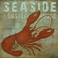 Seaside Lobster Jouse Fine Art Print