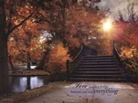 Love Builds A Bridge Fine Art Print