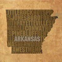 Arkansas State Words by David Bowman - various sizes
