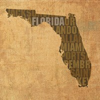 Florida State Words Fine Art Print