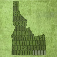 Idaho State Words Fine Art Print