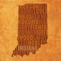 Indiana State Words Fine Art Print