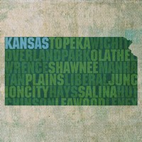 Kansas State Words Fine Art Print