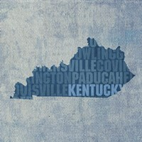 Kentucky State Words by David Bowman - various sizes