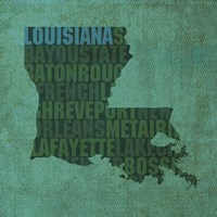 Louisiana State Words by David Bowman - various sizes
