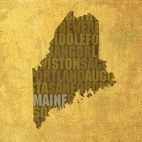 Maine State Words by David Bowman - various sizes