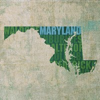 Maryland State Words by David Bowman - various sizes