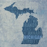 Michigan State Words Fine Art Print