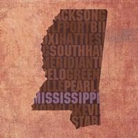 Mississippi State Words Fine Art Print