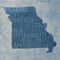 Missouri State Words by David Bowman - various sizes