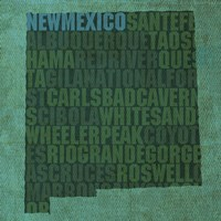 New Mexico State Words Fine Art Print