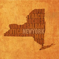 New York State Words Fine Art Print