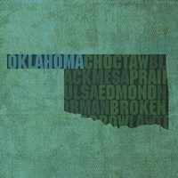Oklahoma State Words by David Bowman - various sizes