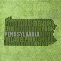 Pennsylvania State Words Fine Art Print