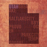 Utah State Words by David Bowman - various sizes, FulcrumGallery.com brand