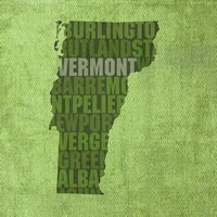 Vermont State Words by David Bowman - various sizes