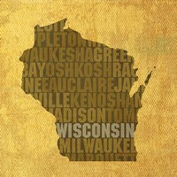 Wisconsin State Words by David Bowman - various sizes