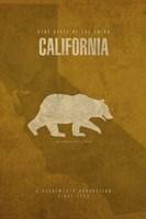 California Poster Framed Print