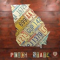 Georgia Map by Design Turnpike - various sizes