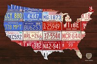 USA Flag Map by Design Turnpike - various sizes