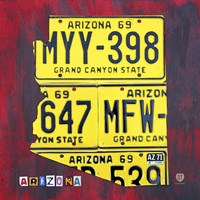 Arizona License Plate by Design Turnpike - various sizes