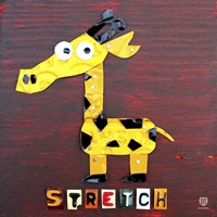 Stretch The Giraffe Framed Print