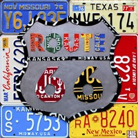 Route 66 Road Sign Fine Art Print