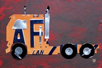 Semi Truck License Plate Art Fine Art Print