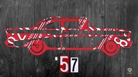 57 Chevy License Plate Art Fine Art Print
