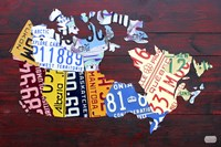 Canada License Plate Map Fine Art Print