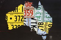 Australia License Plate Map Fine Art Print