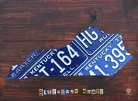 Kentucky License Plate Map Fine Art Print