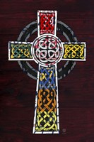 License Plate Art Celtic Cross Fine Art Print