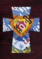License Plate Art Heart Cross by Design Turnpike - various sizes