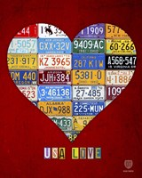 License Plate Art Heart by Design Turnpike - various sizes