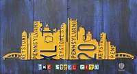 Pittsburgh Skyline License Plate Art Fine Art Print