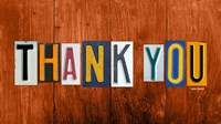 Thank You by Design Turnpike - various sizes - $18.99