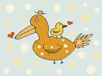 Bird And Baby Fine Art Print