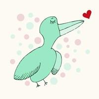 Dreamy Love Bird Fine Art Print