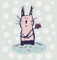 Polka Dot Kitty Fine Art Print