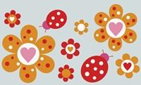 Ladybird Flowers Fine Art Print