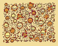 Smiling Sunflowers Fine Art Print