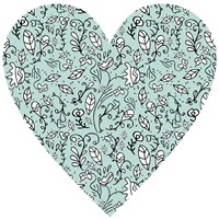 Blue Flower Heart Fine Art Print