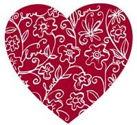 Japanese Flower Heart by Carla Martell - various sizes, FulcrumGallery.com brand