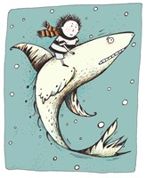 Fish Boy by Carla Martell - various sizes, FulcrumGallery.com brand