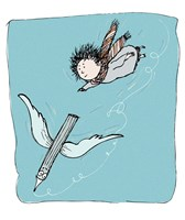 The Flying Pencil by Carla Martell - various sizes