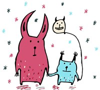 Two Little Monsters by Carla Martell - various sizes - $23.99
