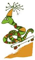 Skateboard Snake by Carla Martell - various sizes - $25.99
