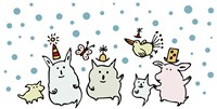 Christmas Creatures by Carla Martell - various sizes